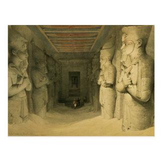 """Postal Interior del templo de Abu Simbel, de """"Egipto"""