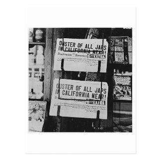 Postal Internación japonesa - periódicos