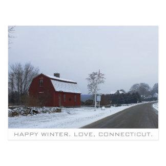 Postal Invierno en Connecticut