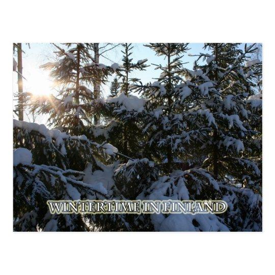 Postal Invierno en Finlandia