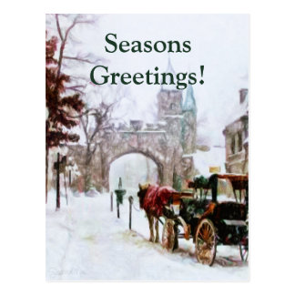 Postal Invierno en la ciudad de Quebec por el mac de