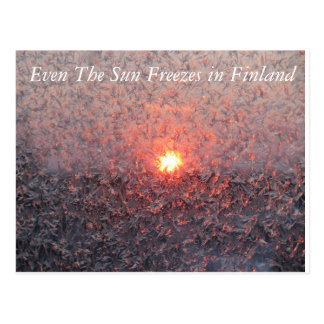 Postal Invierno Sun en Finlandia