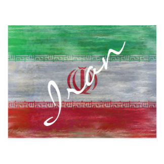 Postal Irán apenó la bandera iraní