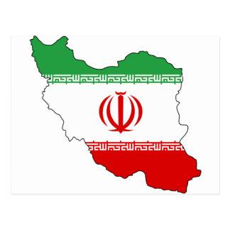 Postal Irán IR, bandera, جمهوریاسلامیایران del escudo de