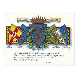 Postal irlandesa de las provincias