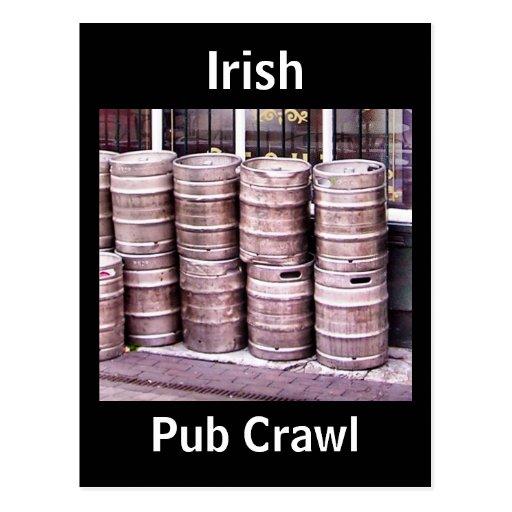 Postal irlandesa del arrastre de Pub