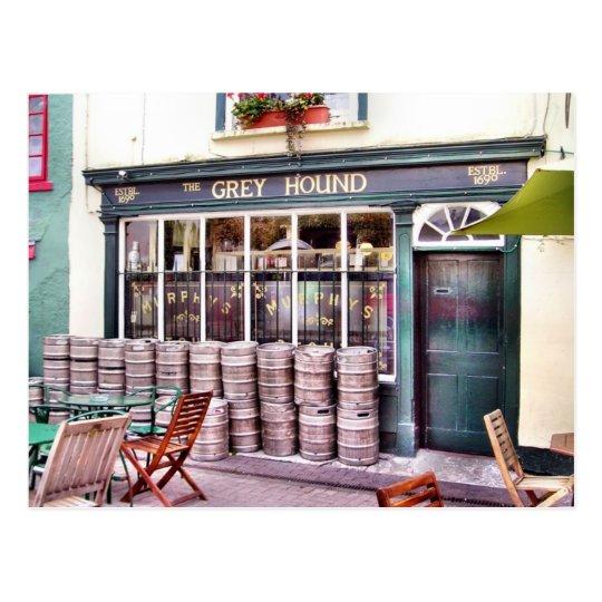 Postal irlandesa del Pub del galgo