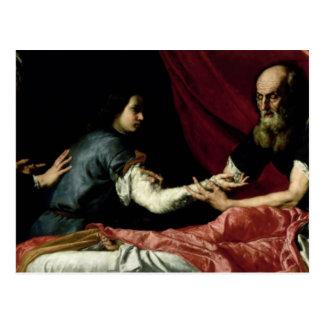 Postal Isaac que bendice a Jacob, 1637