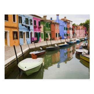 Postal Isla de Burano, Burano, Italia. 4 coloridos