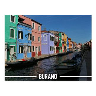 Postal Isla de Burano, Venecia