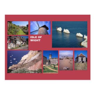 Postal Isla de la multi-imagen del Wight