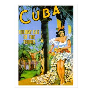 Postal Isla del día de fiesta de Cuba del poster del
