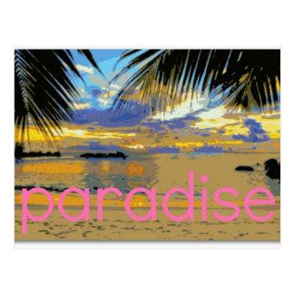 Postal Isla del paraíso