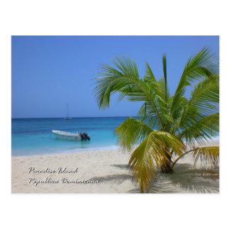 Postal Isla del paraíso, República Dominicana