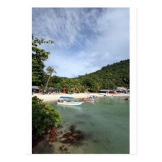 Postal Isla tropical de Perhentian de la playa del