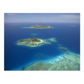 Postal Isla y arrecife de coral, isla de Matamanoa de