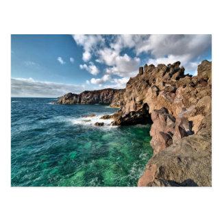 Postal Islas Canarias de la costa de Lanzarote