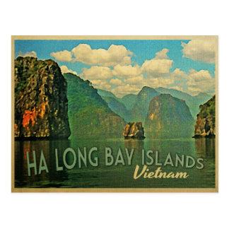 Postal Islas largas Vietnam de la bahía de la ha