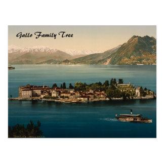 Postal Isola Bella III, lago Maggiore, Piamonte, Italia