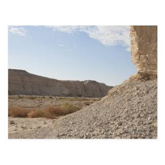 Postal Israel, mar muerto, paisaje del desierto