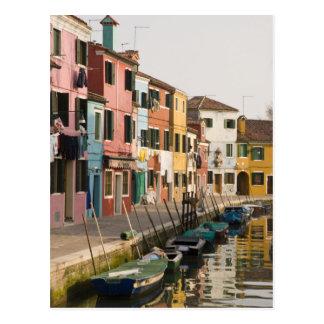 Postal Italia, Burano. Casas coloridas de la línea a