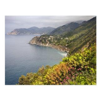 Postal Italia. Coastal que camina área entre los pueblos