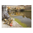 Postal Italia, Florencia, cerraduras del amor y