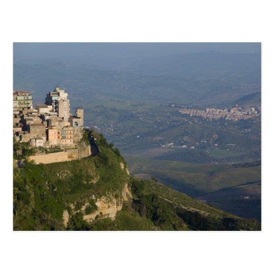 Postal Italia, Sicilia, Enna, opinión de la ciudad de los