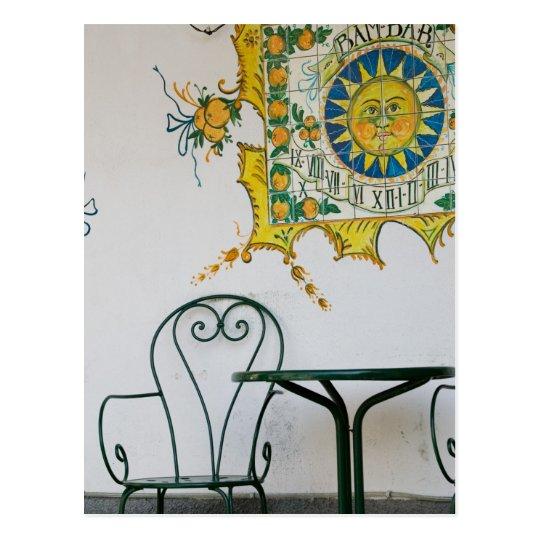 Postal ITALIA, Sicilia, TAORMINA: Bam, detalle del café