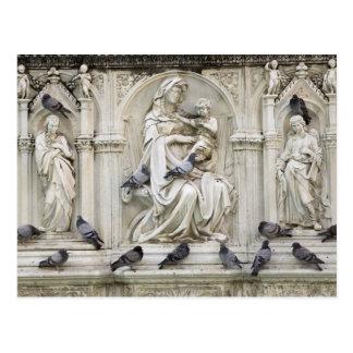 Postal Italia, Toscana, tierra de Siena. Estatuas y