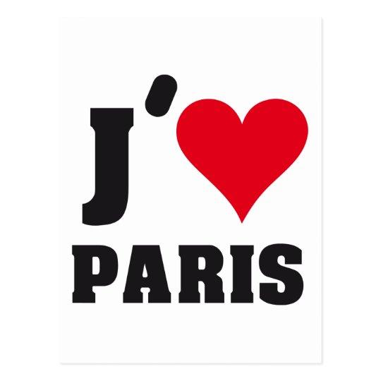 POSTAL J´AIME PARIS