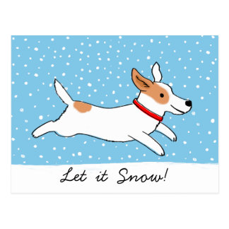 Postal Jack Russell Terrier - día de fiesta feliz del