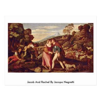 Postal Jacob y Raquel de Jacopo Negretti