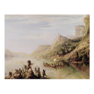 Postal Jacques Cartier que descubre el St. Lorenzo