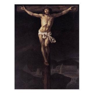 Postal Jacques-Louis David Cristo en la cruz