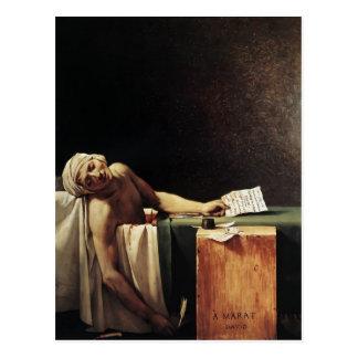 Postal Jacques-Louis David la muerte de Marat