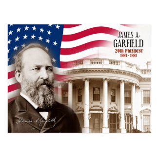 Postal James A. Garfield - vigésimo presidente de los