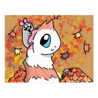 Postal Jamón y otoño guarro