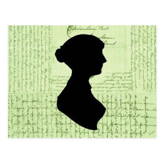 Postal Jane Austen, me llama Letter de señora Jane