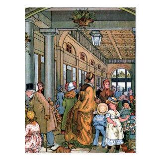 "Postal ""Jardín de Covent, ejemplo del vintage de Londres"""