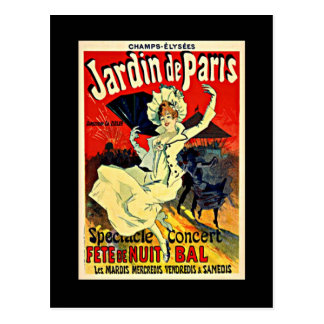 Postal Jardin de París - Fete de Nuit Bal
