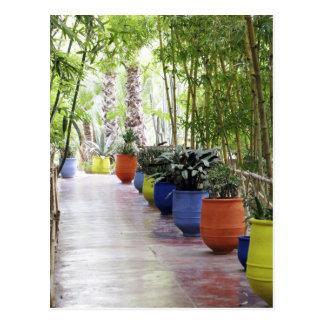 Postal Jardin Majorelle, jardín de Majorelle, ahora un