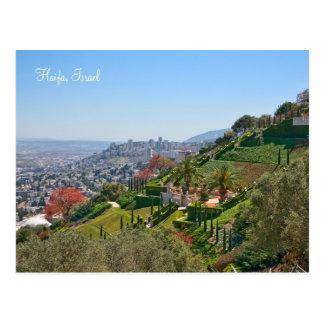 Postal Jardines de Bahá'í de Haifa, Israel