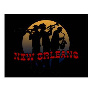 Postal Jazz retro de New Orleans