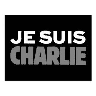 Postal Je Suis Charlie - soy negro de Charlie