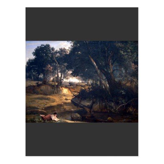 Postal Jean-Baptiste-Camilo Corot - bosque de Fontainebl