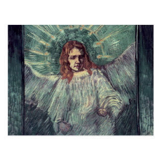 Postal Jefe de un ángel, después de Rembrandt, 1889