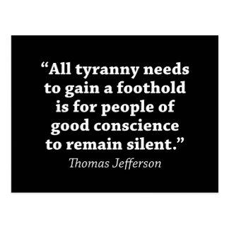 Postal Jefferson: No siga siendo silencioso