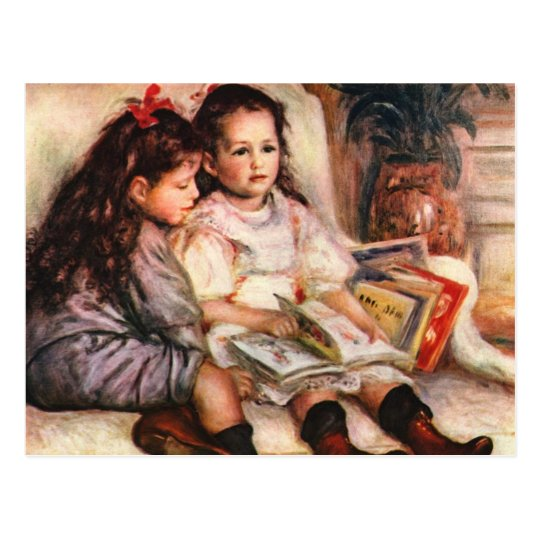 Postal Jene y Genevive Caillebotte por Renoir