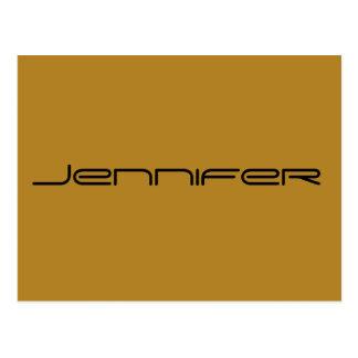 Postal Jennifer, carácter negro de la show televisivo del